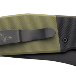 5″ Auto Bold Action® V Black/OD Green G10 Handle with Black Blade – AC-550-B4-B